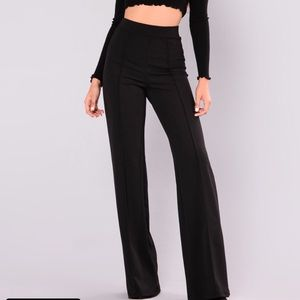 Fashion Nova High Waisted Black Dress Pants